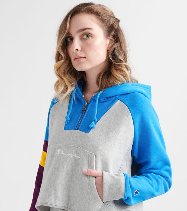 Champion  Reverse Weave Colorblock Oversize Hoodie  Grey - WL39250535-8A | Jimmy Jazz
