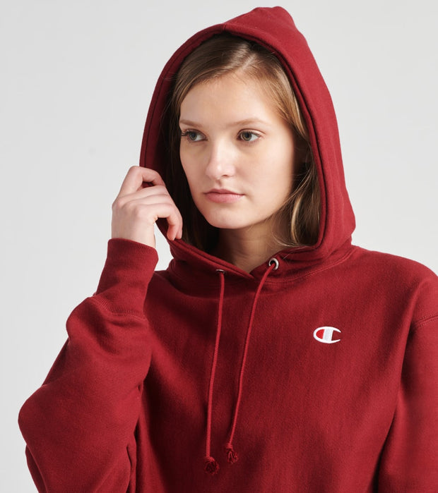 Champion  Reverse Weave Cropped Hoodie  Red - WL659549302-VBX | Jimmy Jazz