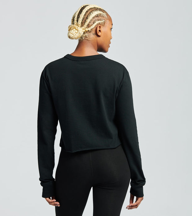 Champion  Long Sleeve Boyfriend Cropped Tee  Black - WL7273550351-003 | Jimmy Jazz