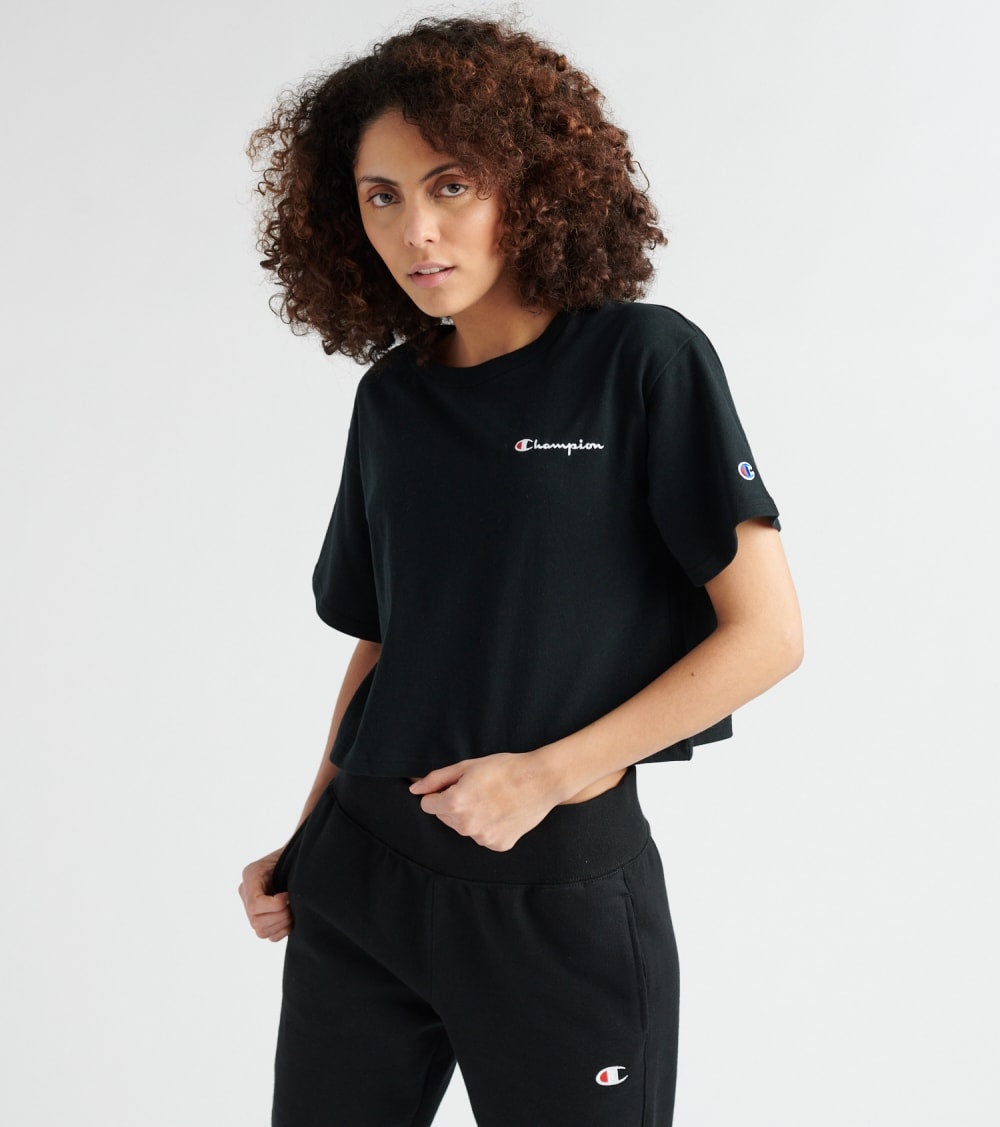Champion  Script Crop Tee  Black - WL956549724-003 | Jimmy Jazz