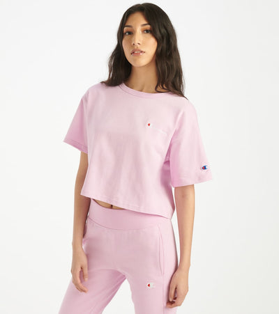 Champion  Script Crop Tee  Pink - WL956549724-57F | Jimmy Jazz