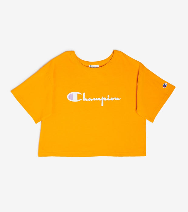 Champion  Heritage Cropped Tee  Yellow - WL956551058-NU9 | Jimmy Jazz