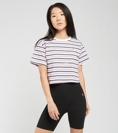 Champion  Heritage Cropped All Over Print Tee  Purple - WL956P551260-AS2G | Jimmy Jazz