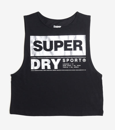 Superdry  Streetsport Crop Tank  Black - WS300022A-02A | Jimmy Jazz