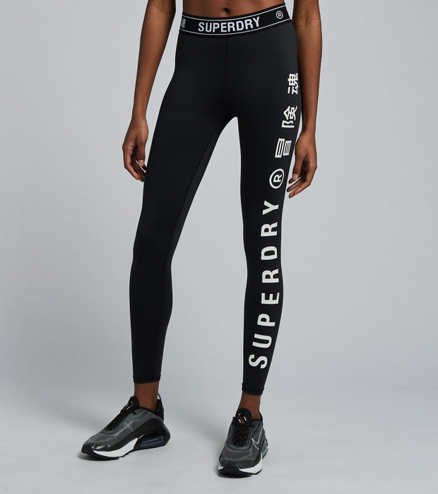Superdry  Training Elastic Leggings  Black - WS310627A-BLK | Aractidf