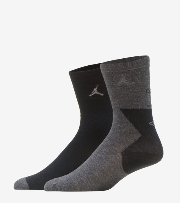Jordan  2pk Raise Up Crew Socks  Grey - XJ0006-GEH | Jimmy Jazz