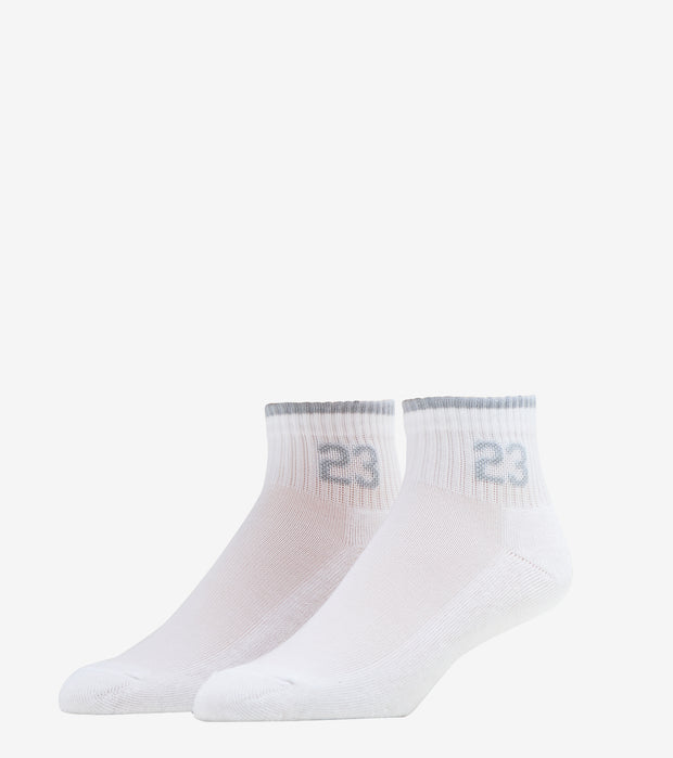 Jordan  3 Pack Quarter Tipping Socks   White - XJ0021-098 | Jimmy Jazz