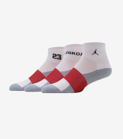 Jordan  3pk Jordan Quarter Sock  White - XJ0149-001 | Jimmy Jazz