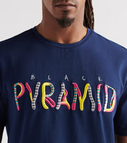 Black Pyramid  Whimsical Tee  Navy - Y1161425-NVY | Jimmy Jazz