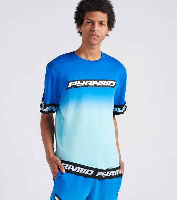 Black Pyramid  Dip Dye Pastel Shooting Jersey  Blue - Y1161844-BLU | Jimmy Jazz