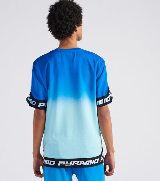 Black Pyramid Dip Dye Pastel Shooting Jersey Blue