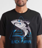 Black Pyramid  Cyber Shark Tee  Black - Y1162164-BLK | Jimmy Jazz