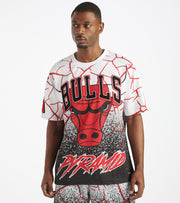 Black Pyramid  Chicago Bulls Logo Tee  White - Y1162354-WHT | Jimmy Jazz