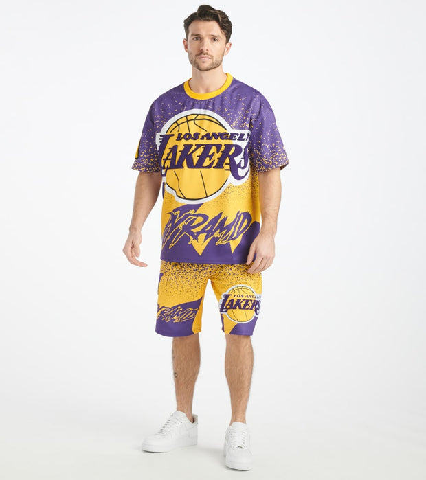 Black Pyramid  Los Angeles Lakers Logo Tee  Yellow - Y1162366-YEL | Jimmy Jazz