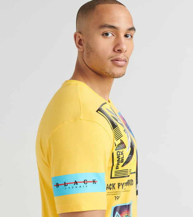 Black Pyramid  Future Relic Tee  Yellow - Y1162404-YEL | Jimmy Jazz
