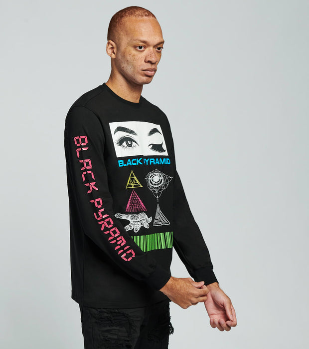 Black Pyramid  Always Watching Long Sleeve Shirt  Black - Y2162524-BLK | Jimmy Jazz