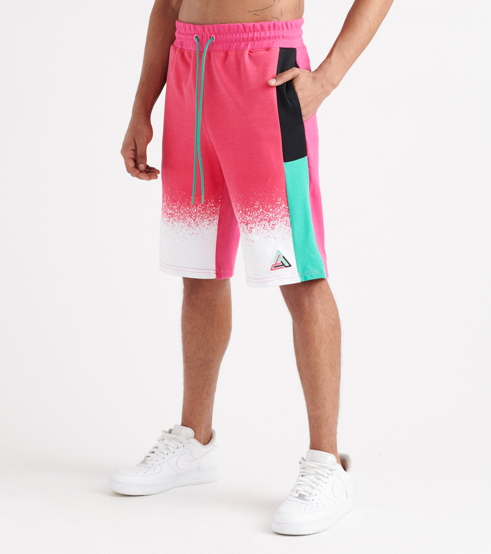 Black Pyramid  Top Splatter Short  Pink - Y3162039-PNK | Jimmy Jazz