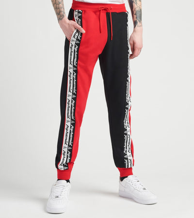 Black Pyramid  Cloned Taping Jogger Pants  Red - Y4162431-RED | Jimmy Jazz