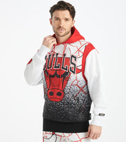 Black Pyramid  Chicago Bulls Logo Hoody      White - Y5162351-WHT | Jimmy Jazz