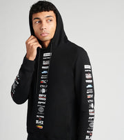 Black Pyramid  Logo Stack Hoodie  Black - Y5162522-BLK | Jimmy Jazz