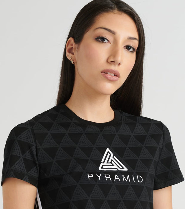 Black Pyramid  Pyramid Sportif Tee  Black - YWA870168-BLK | Jimmy Jazz