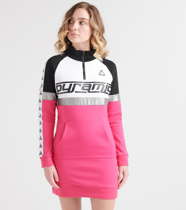Black Pyramid  Logo Tape Sweater Dress   Pink - YWB870107-PNK | Jimmy Jazz
