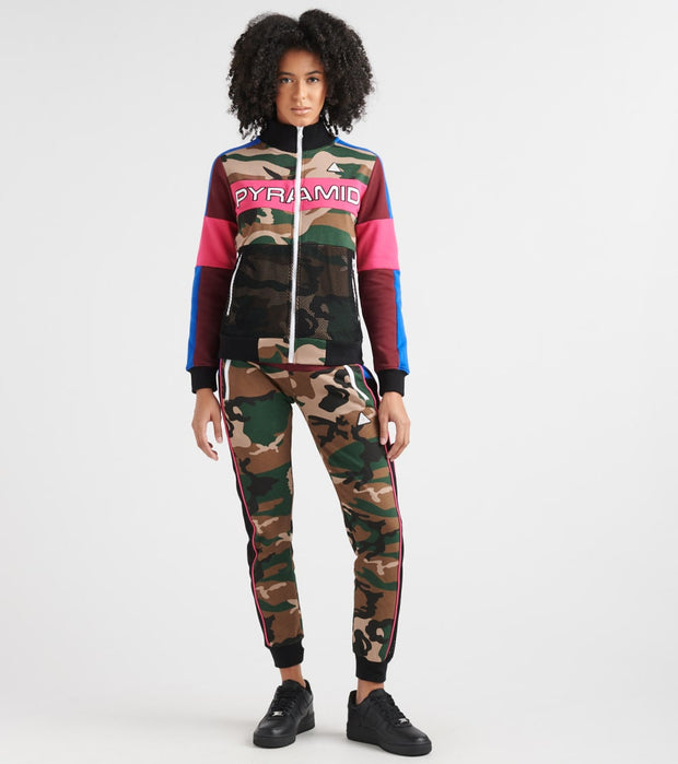 Black Pyramid  Color Pop Camo Track Jacket  Green - YWD870124-CAM | Jimmy Jazz