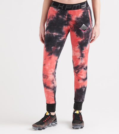 Black Pyramid  Tie Dye Drip Jogger   Red - YWG870110-RED | Jimmy Jazz