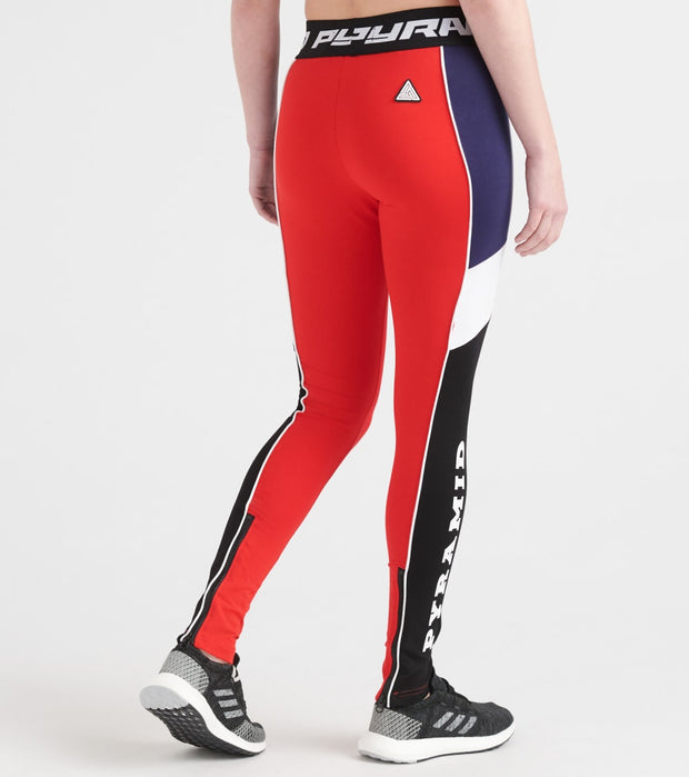 Black Pyramid  Raceway Peiced Legging  Red - YWG870115-RED | Jimmy Jazz