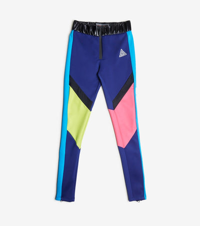 Black Pyramid  Colorblocked Tech Logo Leggings  Multi - YWG870173-BLU | Jimmy Jazz
