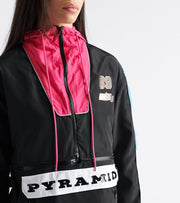Black Pyramid  Raceway Convert to Crop Jacket  Black - YWU870113-BLK | Jimmy Jazz
