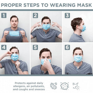 Disposable 3 Ply Mask(50 Pcs Set) - FOXBOXSTORES