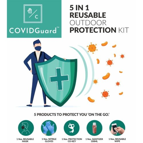 COVIDGuard 5 IN 1 Reusable Outdoor Protection Kit(Set of 2)
