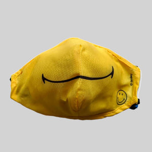 Load image into Gallery viewer, Original Smiley Brand Reusable Anti Viral Face Mask - with 2 Certified Filters (3 Pcs Set) - Yellow Smiley - FOXBOXSTORES