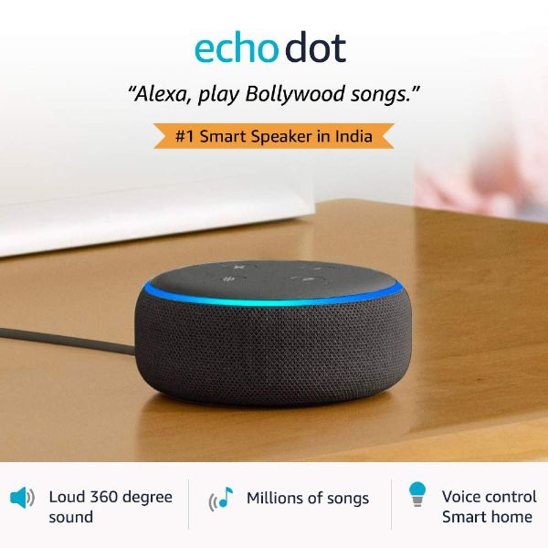 Echo Dot (3rd Gen) – Smart speaker with Alexa (Black) - FOXBOXSTORES