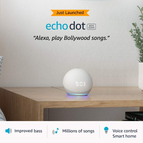 All-new Echo Dot (4th Gen) with Clock - FOXBOXSTORES