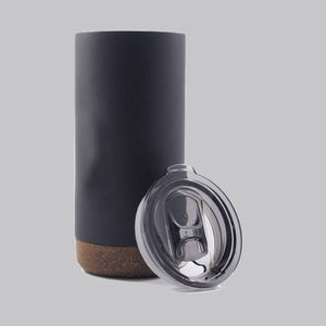 Load image into Gallery viewer, Double Wall Stainless Steel Mug With Cork Coaster - FOXBOXSTORES