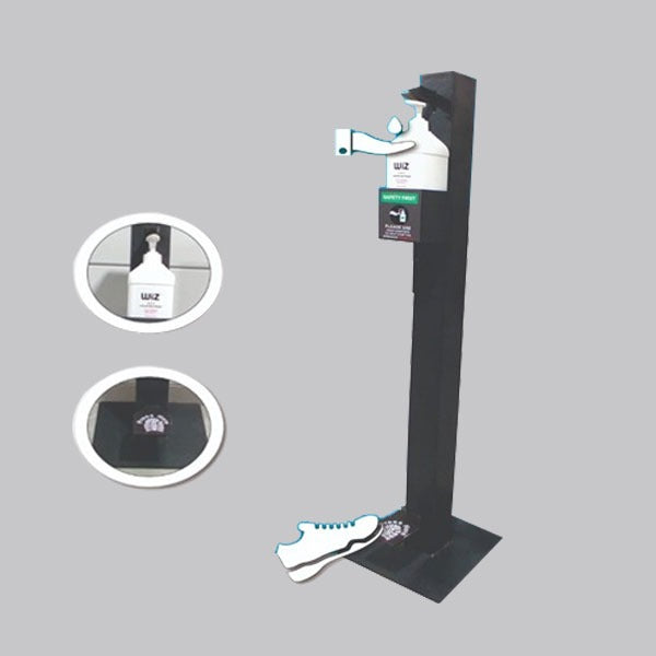 Load image into Gallery viewer, Metal Contactless Sanitizer Stand - FOXBOXSTORES