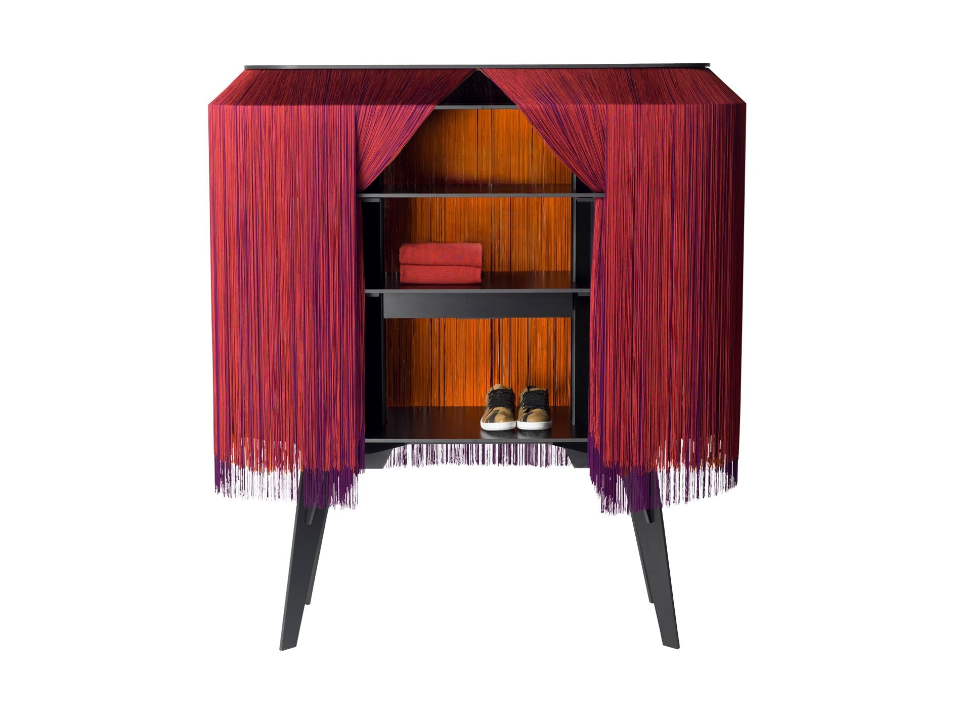 Cabinet - Alpaga red/purple/orange