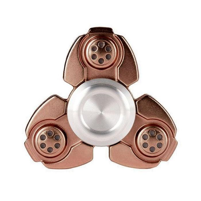 Αγχολυτικό παιχνίδι Fidget Spinner Titanium Alloy Three Leaves 2 minutes - Bronze GL-50940 - top200