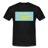 """THIS IS MY DOG WALKING T-SHIRT"" Dog Lovers Comfy T-Shirt - black"