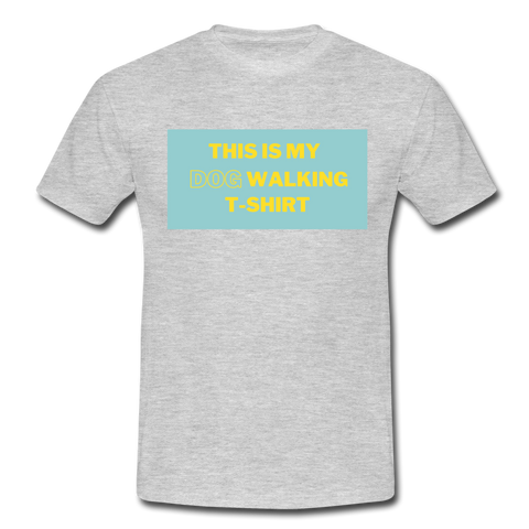 """THIS IS MY DOG WALKING T-SHIRT"" Dog Lovers Comfy T-Shirt - heather grey"