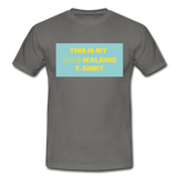 """THIS IS MY DOG WALKING T-SHIRT"" Dog Lovers Comfy T-Shirt - graphite grey"