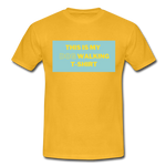 """THIS IS MY DOG WALKING T-SHIRT"" Dog Lovers Comfy T-Shirt - yellow"