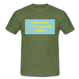 """THIS IS MY DOG WALKING T-SHIRT"" Dog Lovers Comfy T-Shirt - military green"