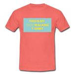 """THIS IS MY DOG WALKING T-SHIRT"" Dog Lovers Comfy T-Shirt - coral"