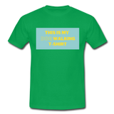 """THIS IS MY DOG WALKING T-SHIRT"" Dog Lovers Comfy T-Shirt - kelly green"