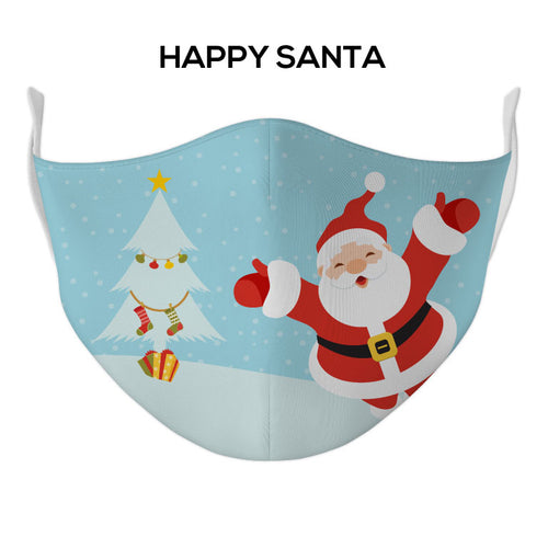 Happy Santa Face Mask