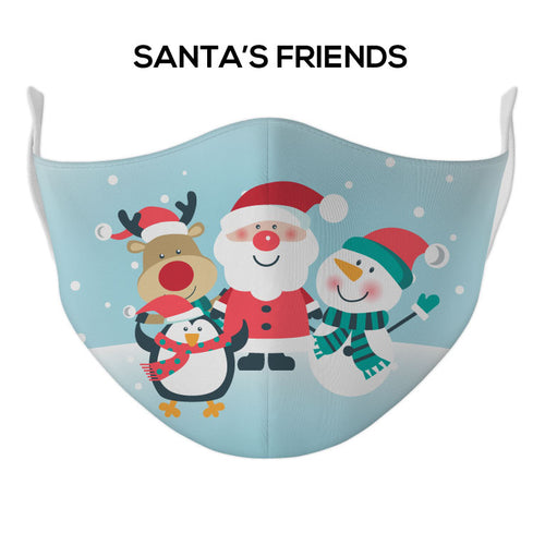 Santas Friends Face Mask