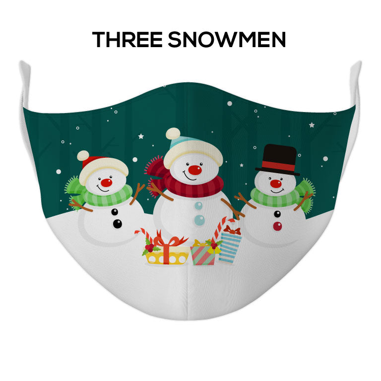 Three Snowmen Face Mask